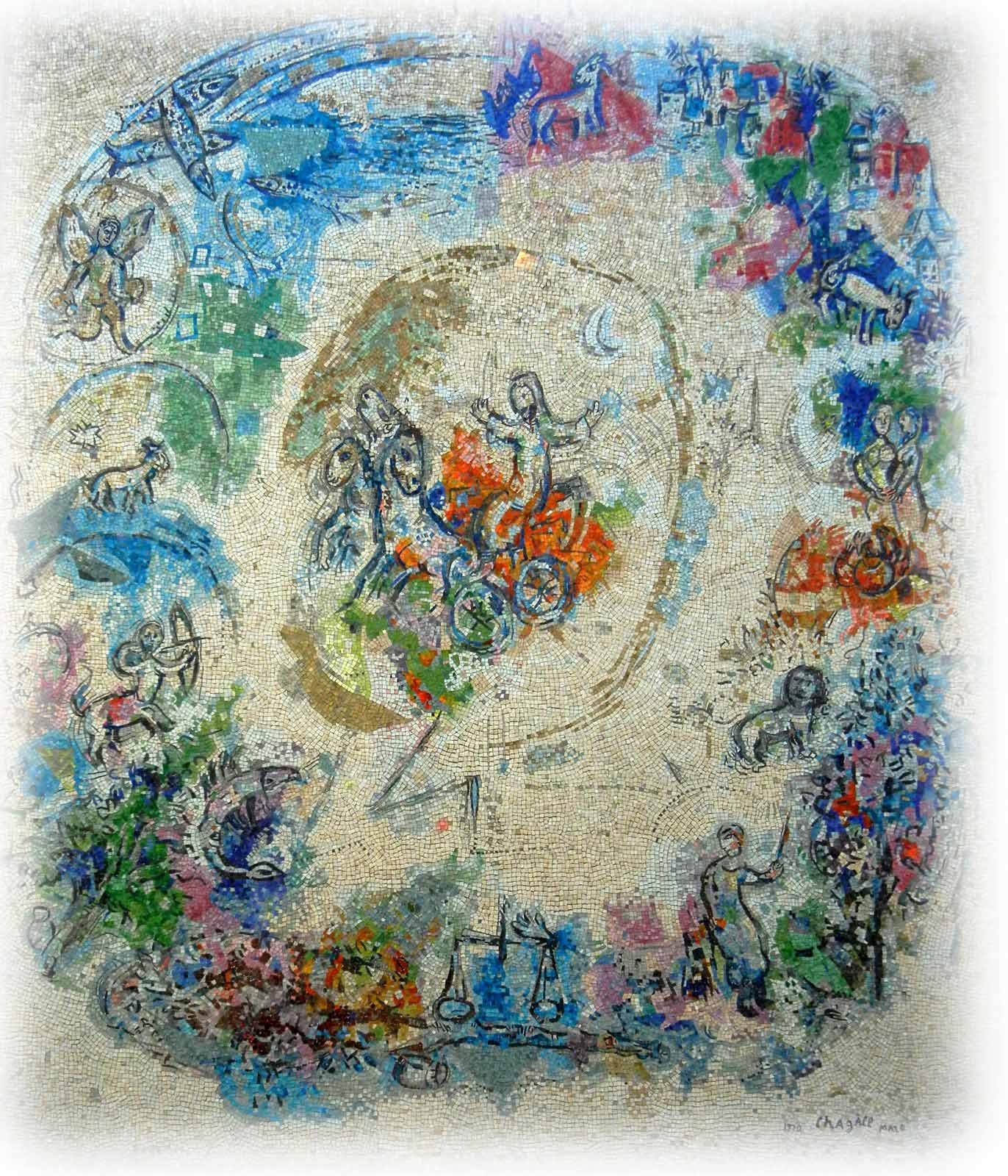 Elijah Mozaic - Marc Chagall